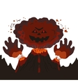 Evil erupting volcano vector image