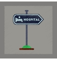 flat shading style icon hospital sign vector image
