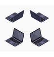 Isometric black laptop vector image
