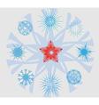 Snowflakes and Christmas Star vector image