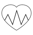 Cardiogram heart icon outline style vector image