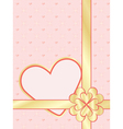 Valentines Day present wrapper vector image vector image
