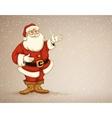 Santa laus showing in empty vector image