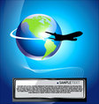 airliner background vector image vector image