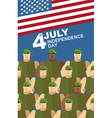 4th july American independence day Soldiers in vector image