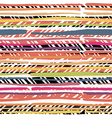Abstract hand drawn colors stripes pattern vector image