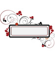 Banner with the flower and beads vector image vector image
