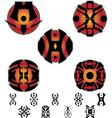 fantasy hieroglyphs and pictograms vector image