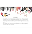 Beauty cosmetics Makeup with cosmetic tools vector image