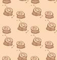 Cute cookies seamless pattern vector image