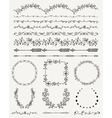 Hand Sketched Seamless Borders Frames Dividers vector image