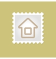 Home stamp vector image