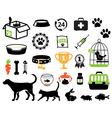 Petshop set vector image