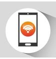 Device mobile internet icon social media graphic vector image