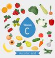 vitamin c or ascorbic acid vitamin c or ascorbic vector image