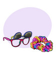 personal items from 90s - sunglasses with vector image