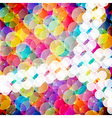 Abstract mosaic background made of colorful vector image vector image