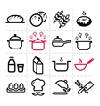 simple kitchen icons vector image