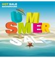 Seasonal summer sale poster vector image
