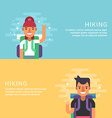 People Leisure Concept Hiking Male Cartoon vector image vector image