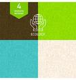 Thin Line Art Green Energy Ecology Pattern Set vector image