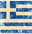 Greece flag retro vector image vector image