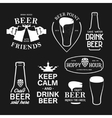 Beer related typography set vintage vector image