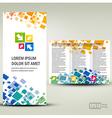 Brochure Tri-fold Layout Design Template geometric vector image
