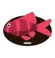 Fish animal cartoon over table design vector image