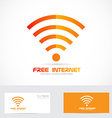 Free internet wifi logo wireless icon vector image