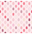 Seamless background with puzzle vector image