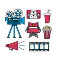 set cinematography scene to entertainment vector image