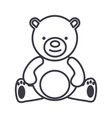 teddy beartoy line icon sign vector image