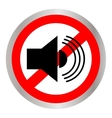 The no sound icon Volume Off symbol Flat vector image