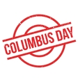 Columbus Day rubber stamp vector image
