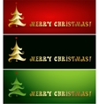 Merry christmas tree background vector image vector image