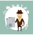 journalist holding a newspaper vector image vector image