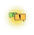 Speech bubbles comics icon vector image