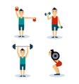 Man Workouts Set Set vector image