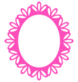 Beautiful Picture Frame - Luxury Pink vector image