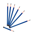 A Group of Sharpened Pencils on White Background vector image