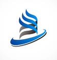 abstract swirl ribbon business logo vector image