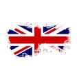 british flag grunge-04 vector image