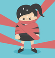 business woman tied up with ropes vector image