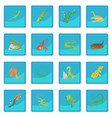 lizard type animals icon blue app vector image