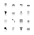 optometry icons set vector image