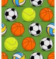 Sports ball seamless pattern Balls ornament vector image
