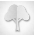 Stylized white paper tree with shadow vector image