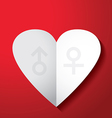 valentines day men women sign vector image