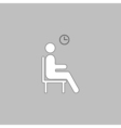 Waiting computer symbol vector image